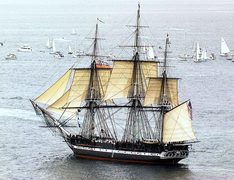 21 luglio 1997 la USS.Constitution in navigazione dopo due secoli.
